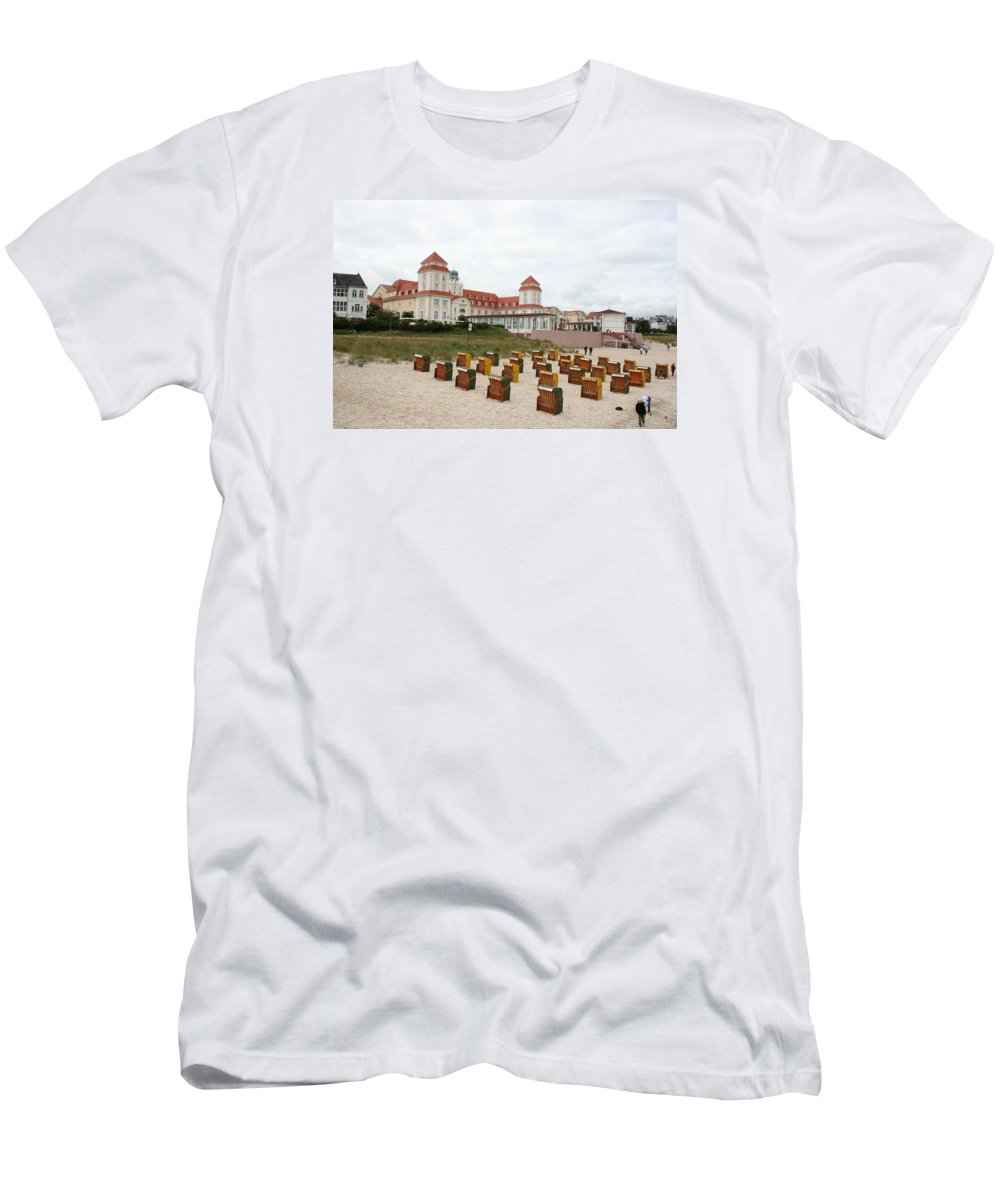 Beach Men's T-Shirt (Athletic Fit) featuring the photograph Ruegen Island Beach - Germany by Christiane Schulze Art And Photography