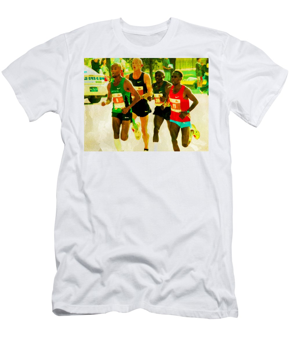 Runners Men's T-Shirt (Athletic Fit) featuring the photograph Runners by Alice Gipson