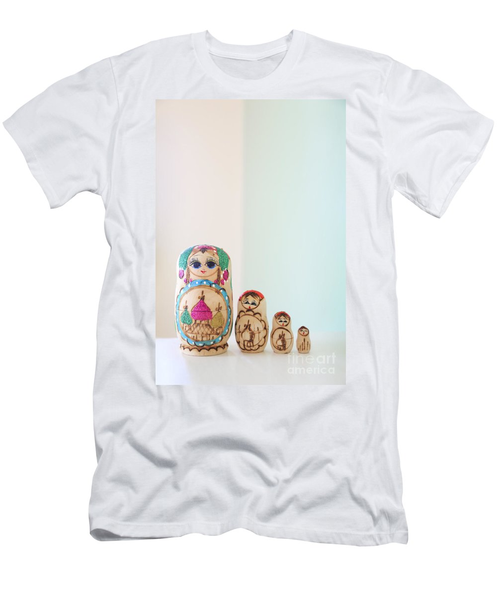 Russian Men's T-Shirt (Athletic Fit) featuring the photograph Russian Dolls by Evelina Kremsdorf