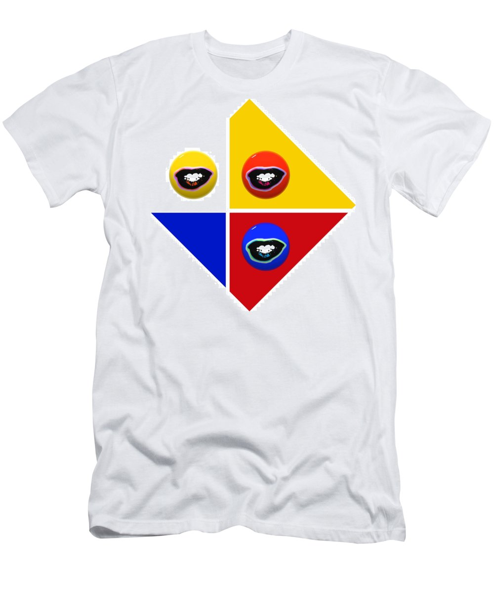 Andy Warhol Men's T-Shirt (Athletic Fit) featuring the painting Sailing Six by Charles Stuart