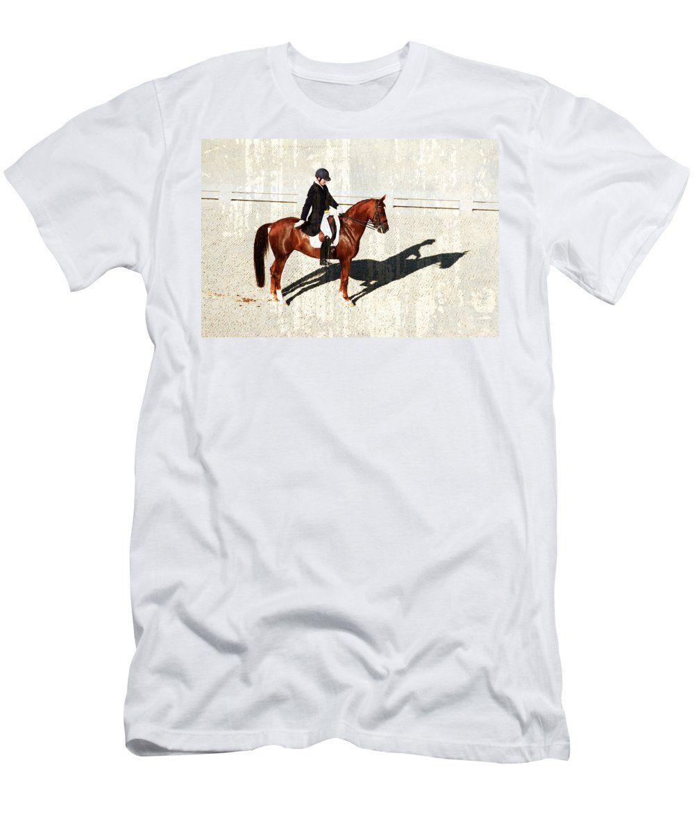 Dressage Men's T-Shirt (Athletic Fit) featuring the photograph Salute by Alice Gipson