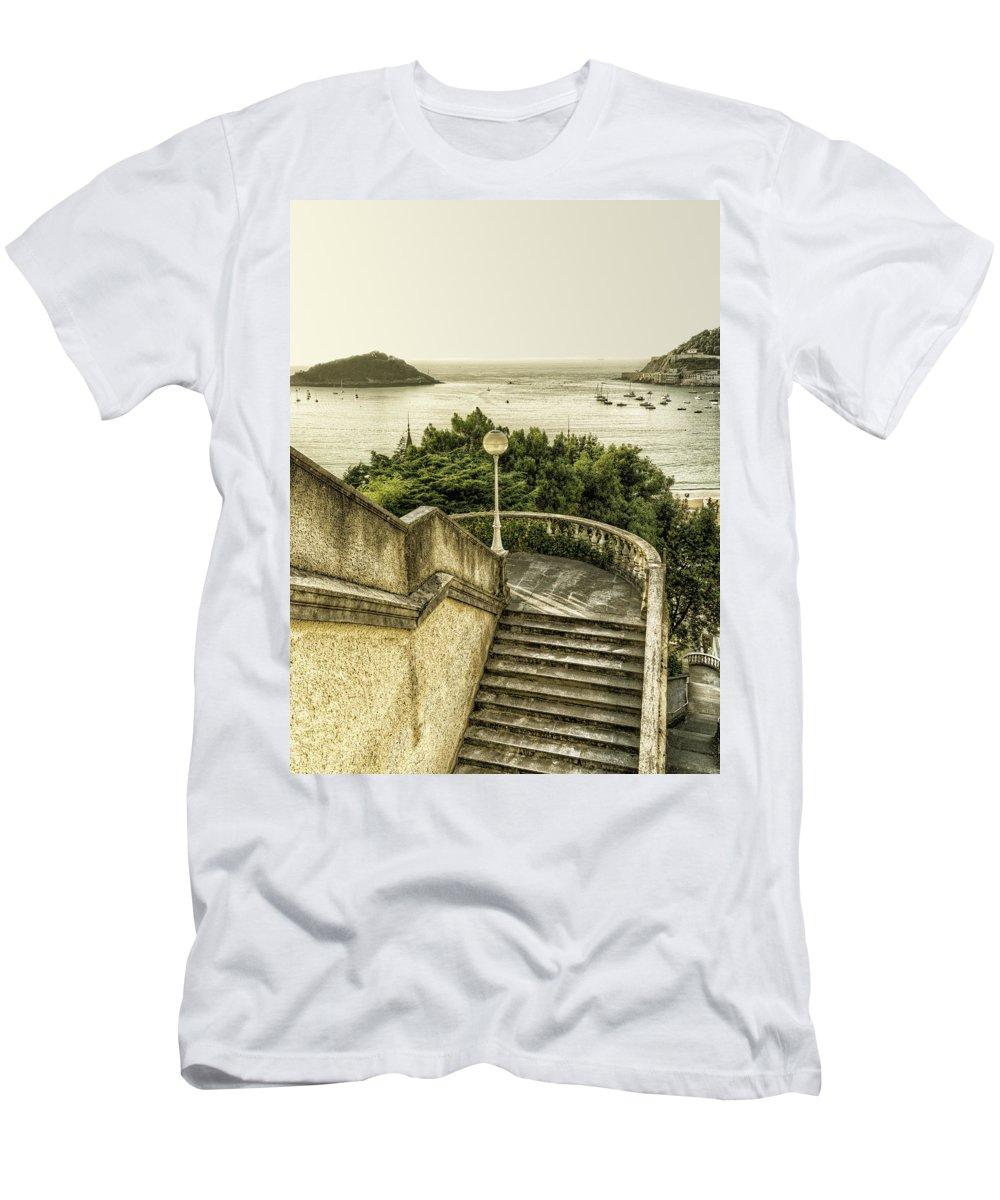 Bahia Men's T-Shirt (Athletic Fit) featuring the photograph San Sebastian by Claudio Bacinello