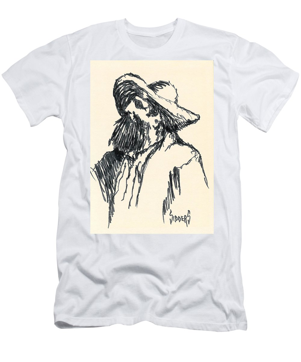 Hat Men's T-Shirt (Athletic Fit) featuring the drawing Sancho by Sam Sidders