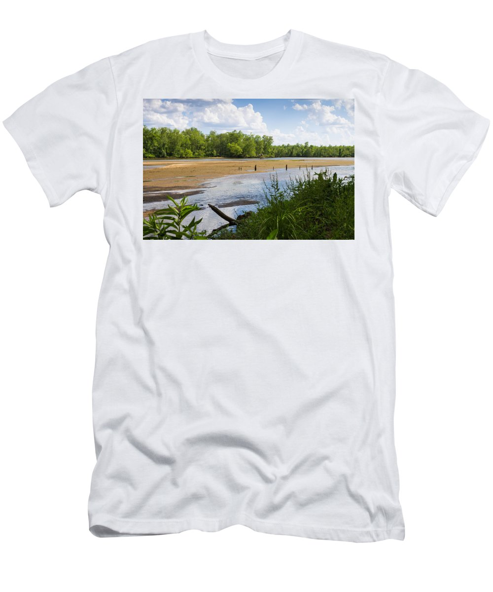 Sand Men's T-Shirt (Athletic Fit) featuring the photograph Sand Bar by James Drake