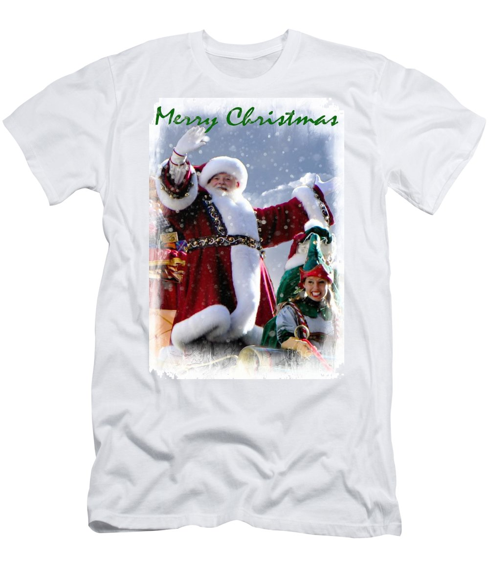 Christmas Men's T-Shirt (Athletic Fit) featuring the photograph Santa Claus by Lilliana Mendez