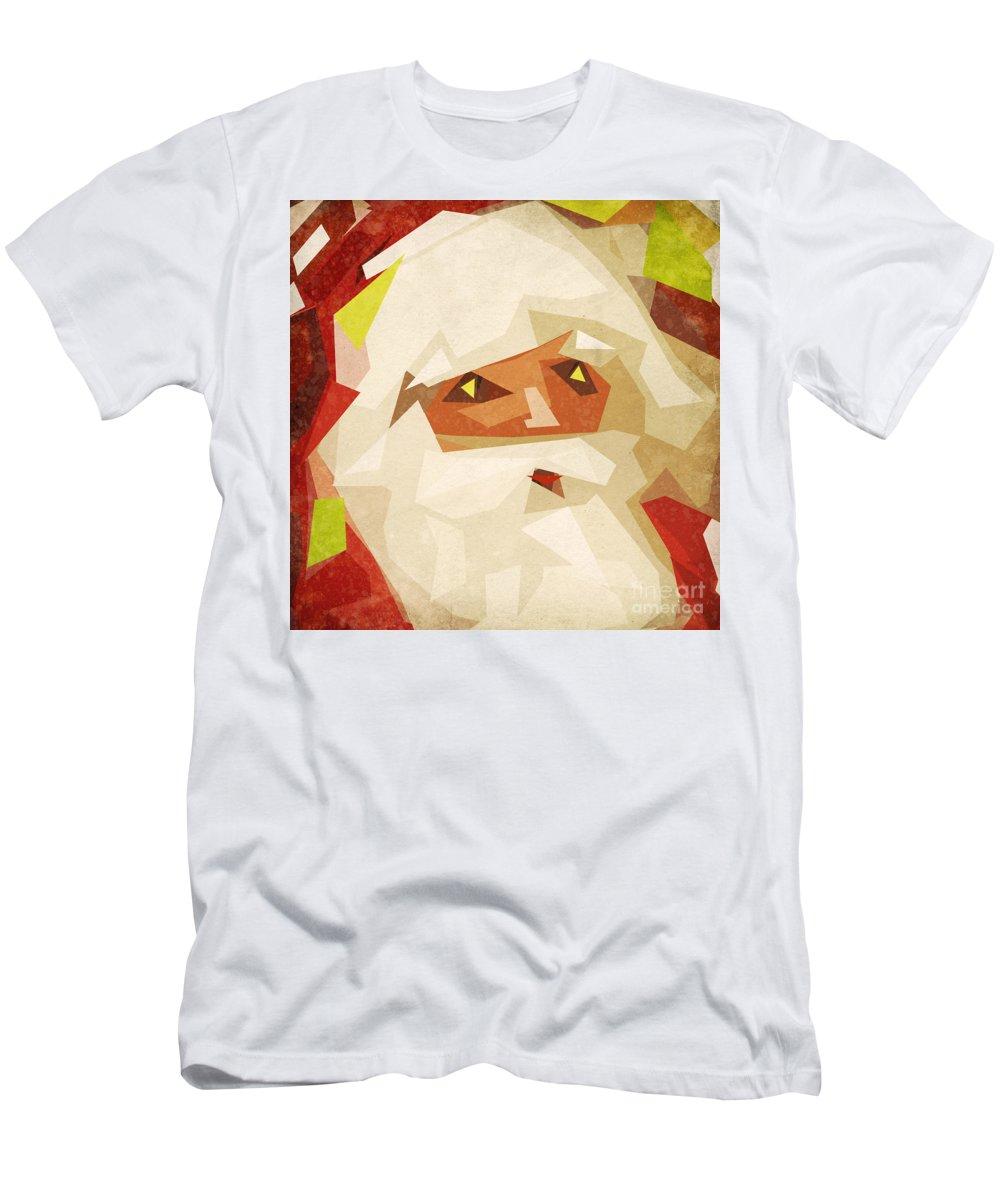 Abstract Men's T-Shirt (Athletic Fit) featuring the painting Santa Claus by Setsiri Silapasuwanchai