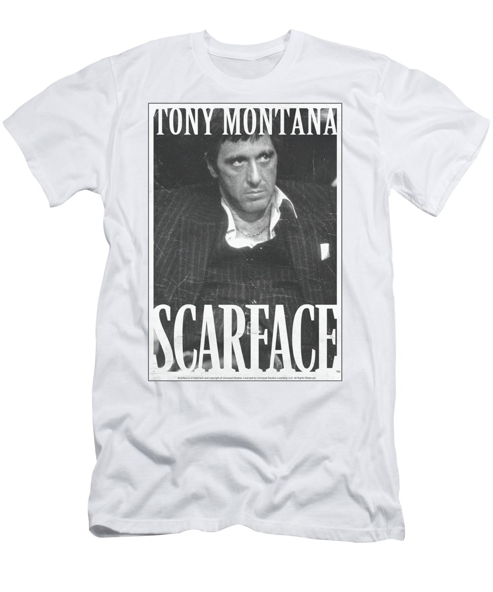 Scareface T-Shirt featuring the digital art Scarface - Business Face by Brand A