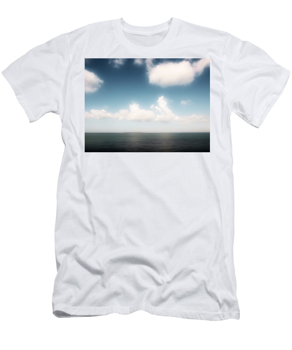 Seascape Men's T-Shirt (Athletic Fit) featuring the photograph Sea And Sky - Clouds And Horizon by Alexander Voss