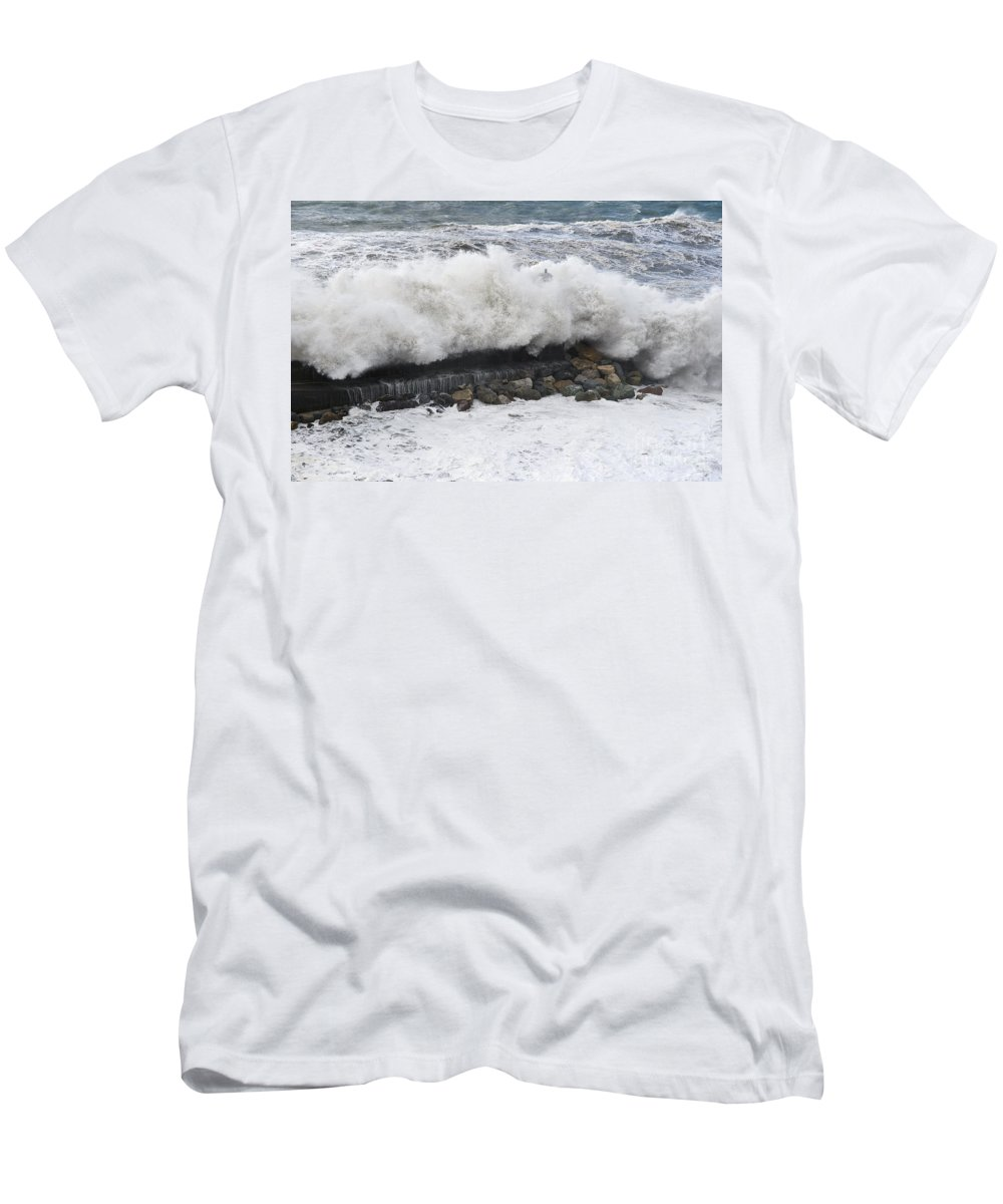 Agitated Men's T-Shirt (Athletic Fit) featuring the photograph Sea Storm by Antonio Scarpi
