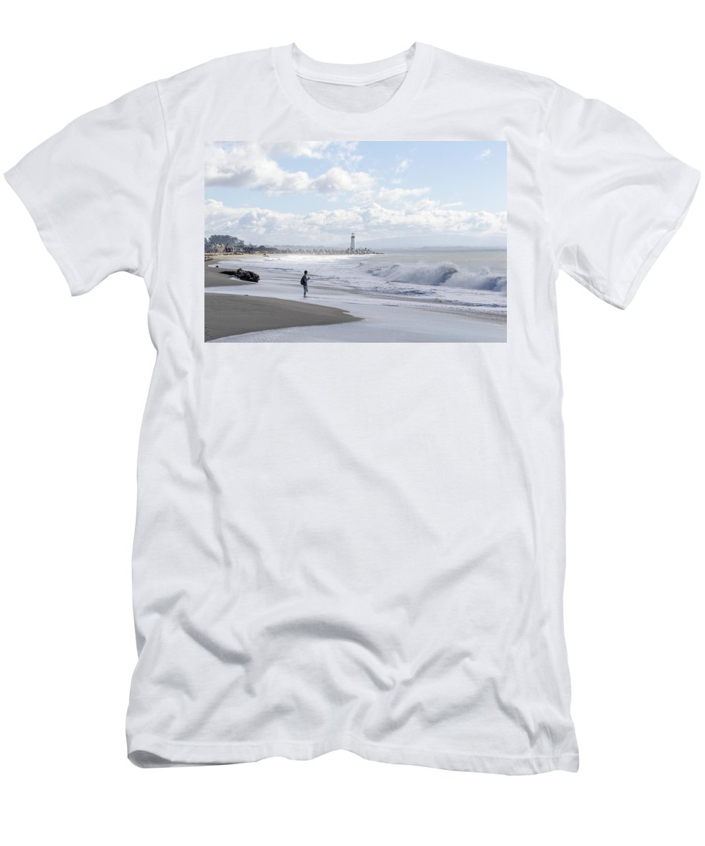 Beach Men's T-Shirt (Athletic Fit) featuring the photograph Seabright Beach by Bruce Frye