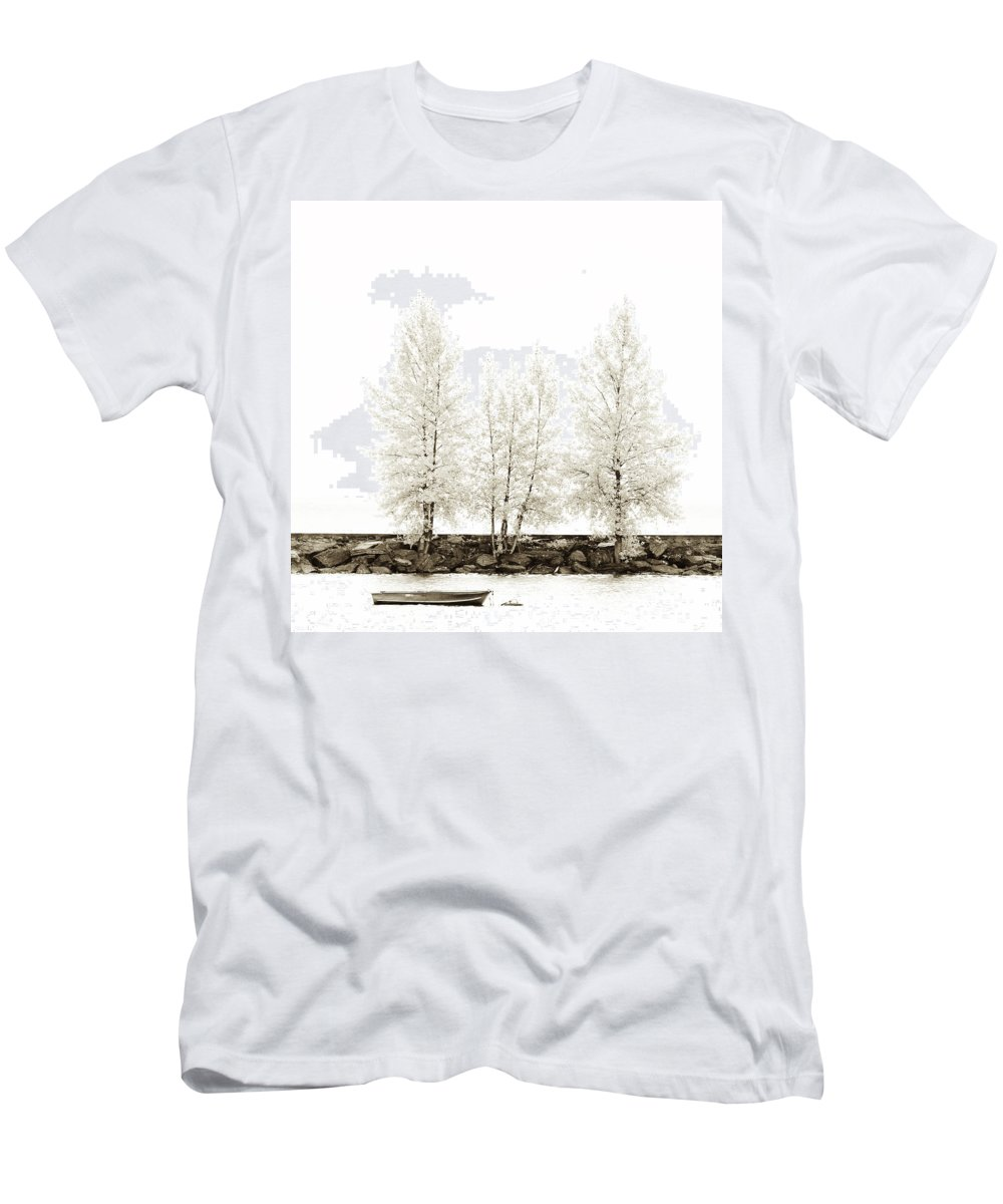 Autumn Men's T-Shirt (Athletic Fit) featuring the photograph Sepia Square Diptych Tree 12-7693 Set 1 Of 2 by U Schade