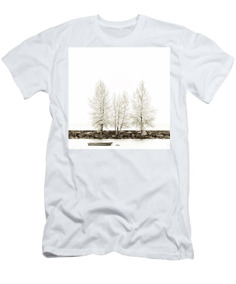 Autumn Men's T-Shirt (Athletic Fit) featuring the photograph Sepia Square Tree by U Schade