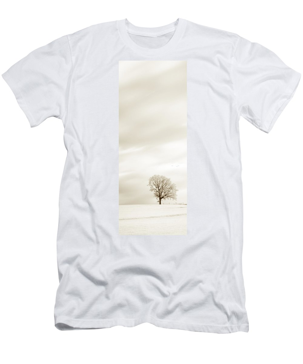 Autumn Men's T-Shirt (Athletic Fit) featuring the photograph Sepia Triptych Tree 13-0747 Set 1 Of 3 by U Schade