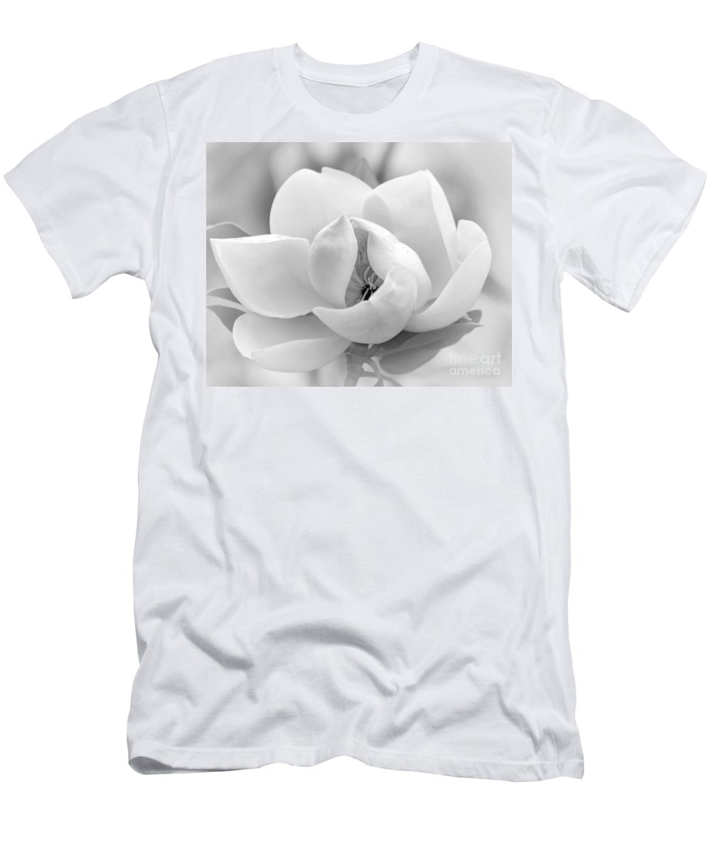 Macro Men's T-Shirt (Athletic Fit) featuring the photograph Serene Magnolia by Sabrina L Ryan