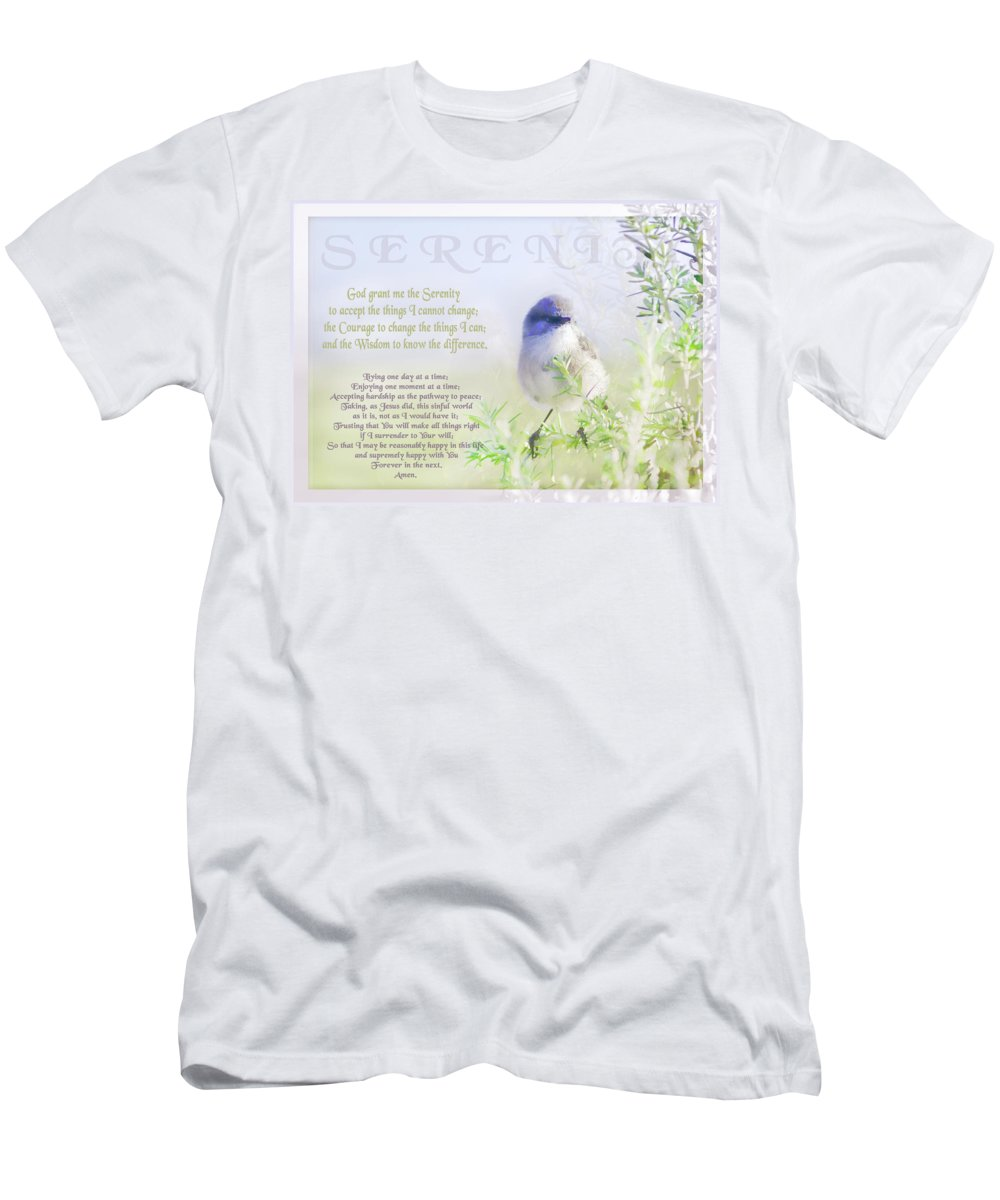 Animals Men's T-Shirt (Athletic Fit) featuring the photograph Serenity Prayer by Holly Kempe