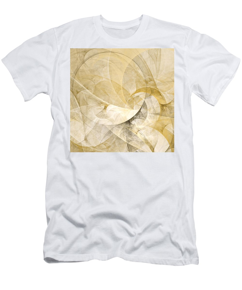 Abstract Men's T-Shirt (Athletic Fit) featuring the digital art Series Abstract Art In Earth Tones 1 by Gabiw Art