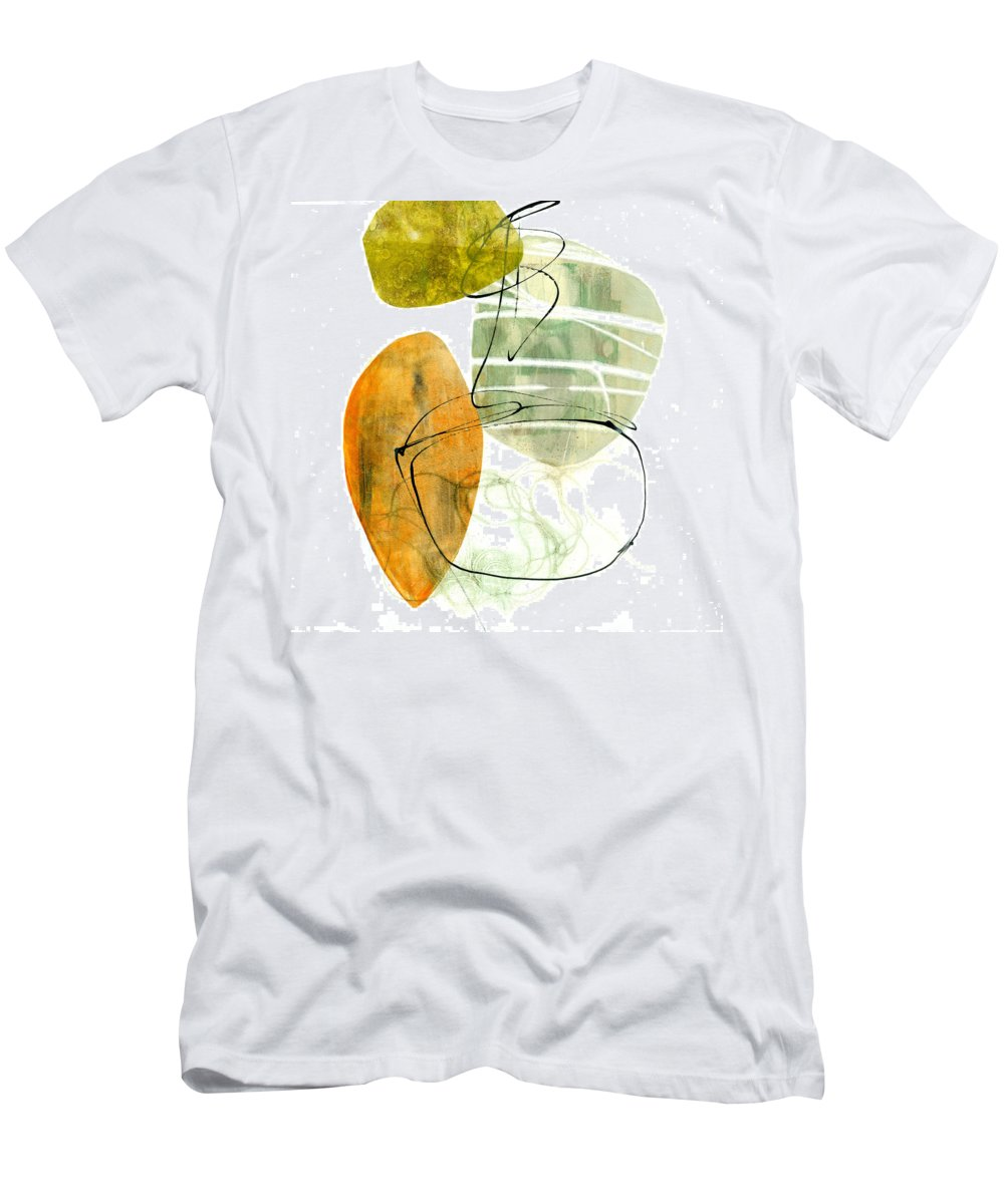 Jane Davies Men's T-Shirt (Athletic Fit) featuring the painting Shape 19 by Jane Davies