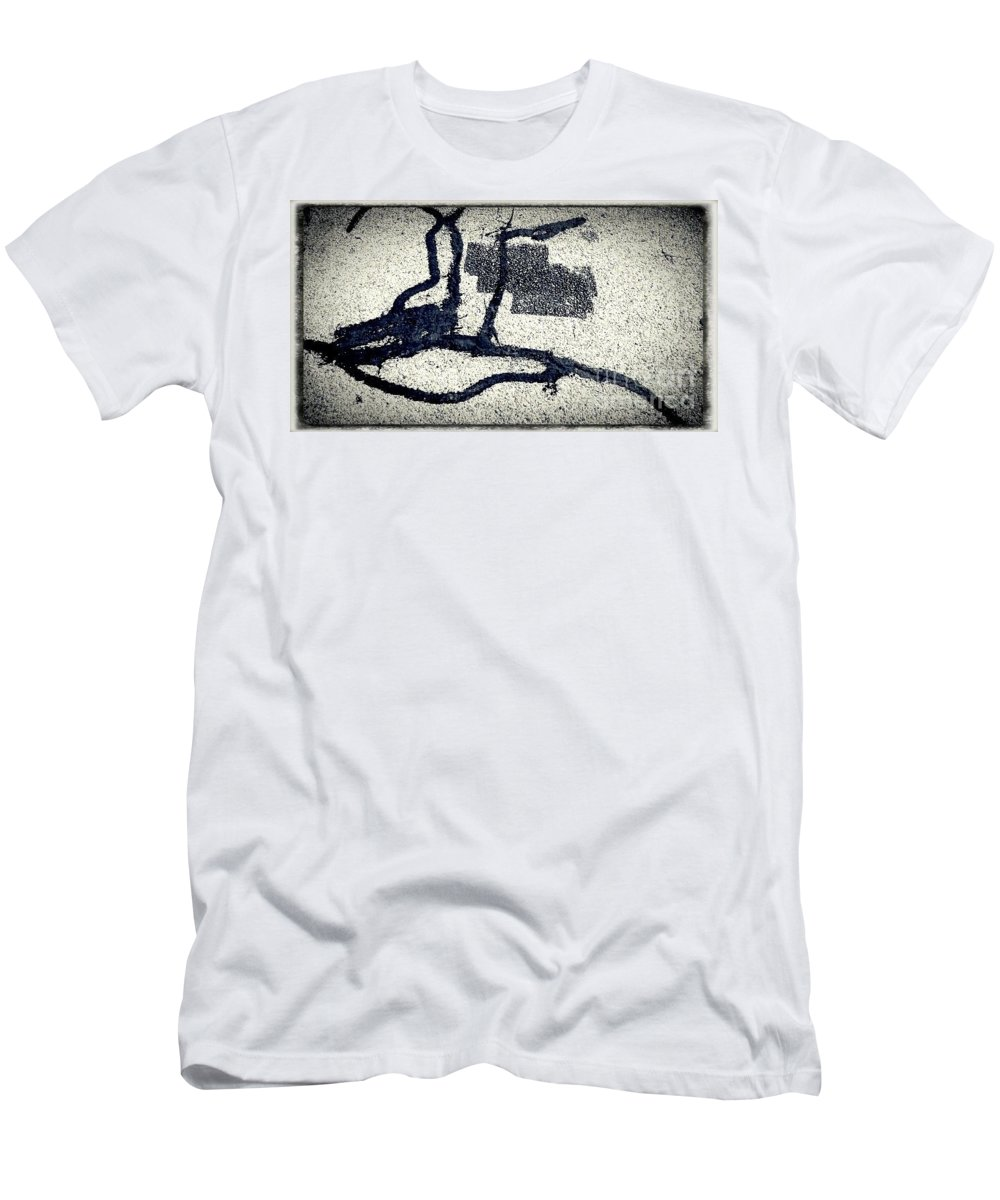 Natural Theme Men's T-Shirt (Athletic Fit) featuring the photograph Sharing And Listening by Fei A