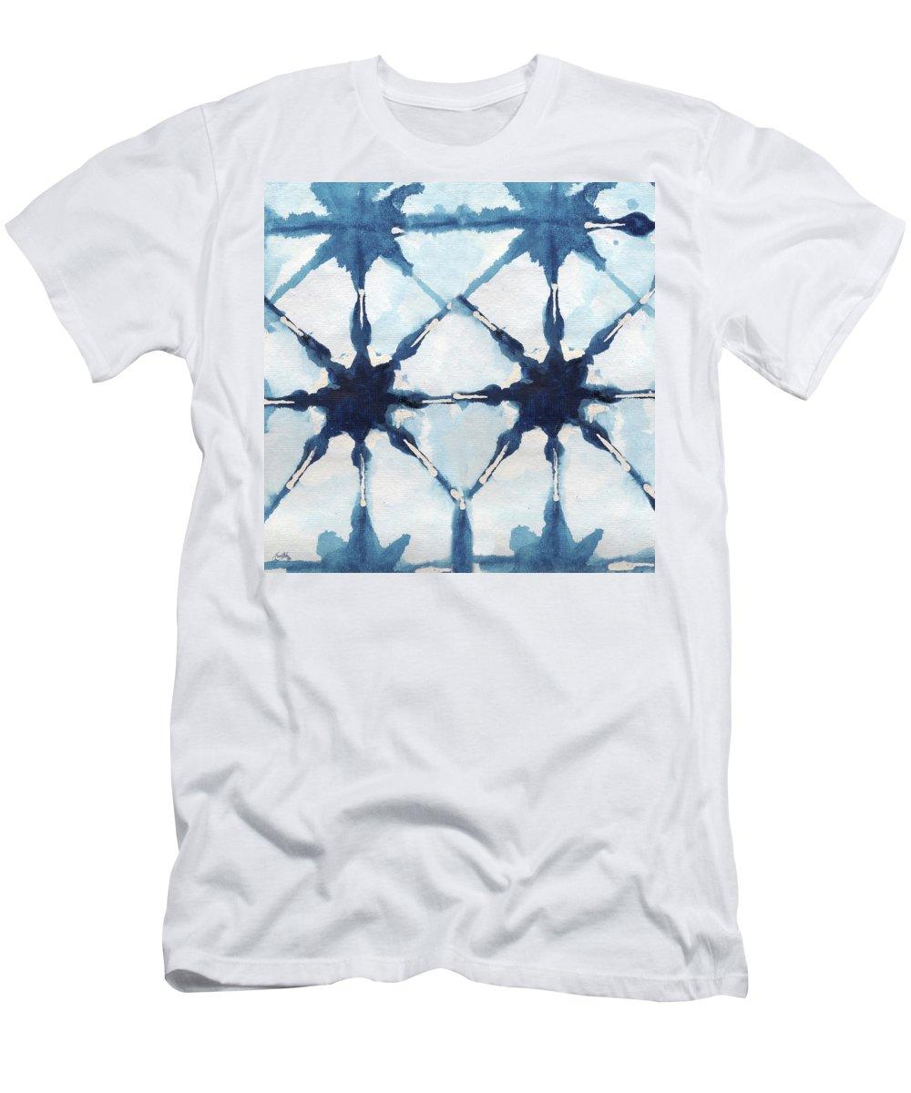 Shibori T-Shirt featuring the digital art Shibori II by Elizabeth Medley