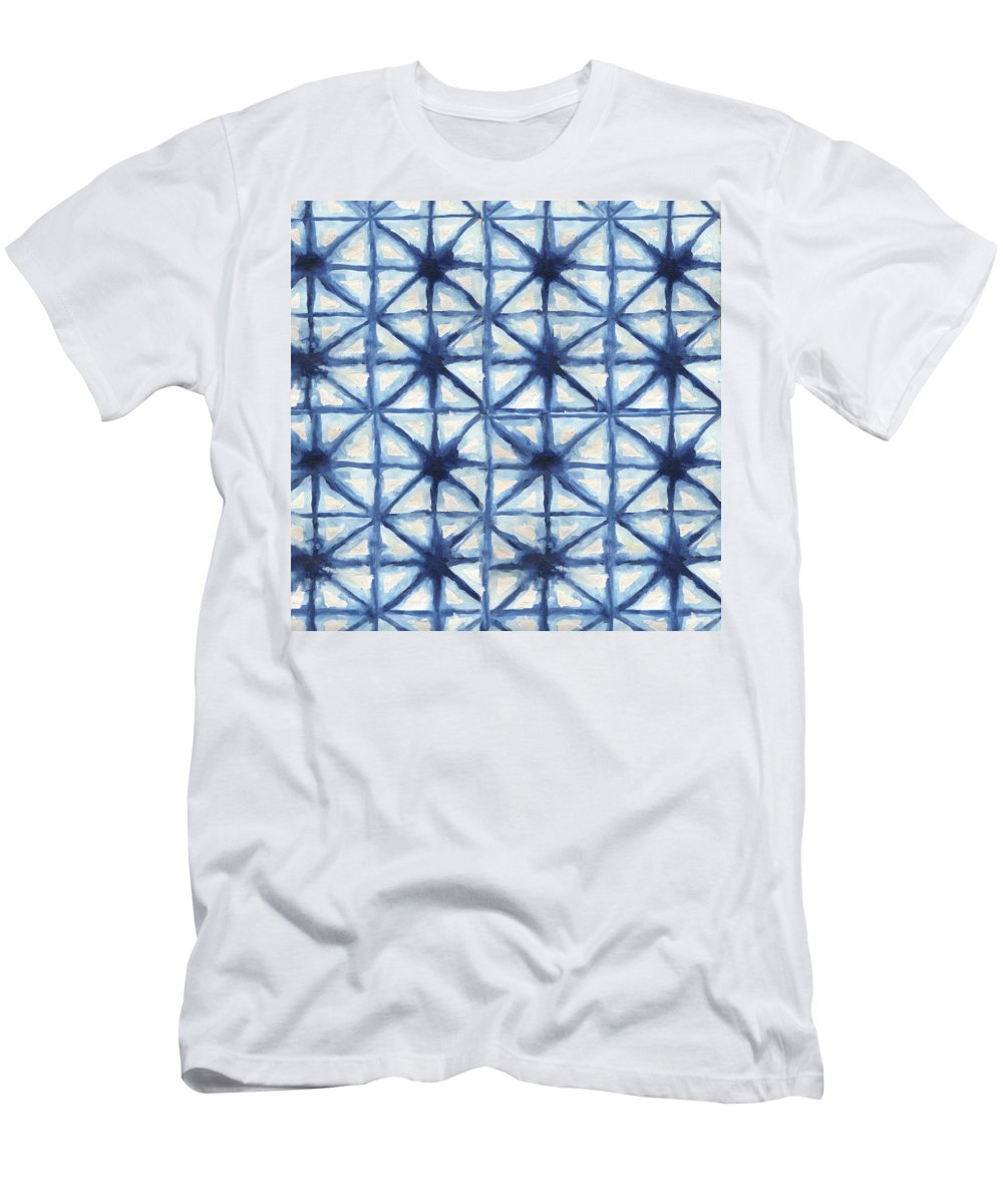 Shibori T-Shirt featuring the digital art Shibori Iv by Elizabeth Medley