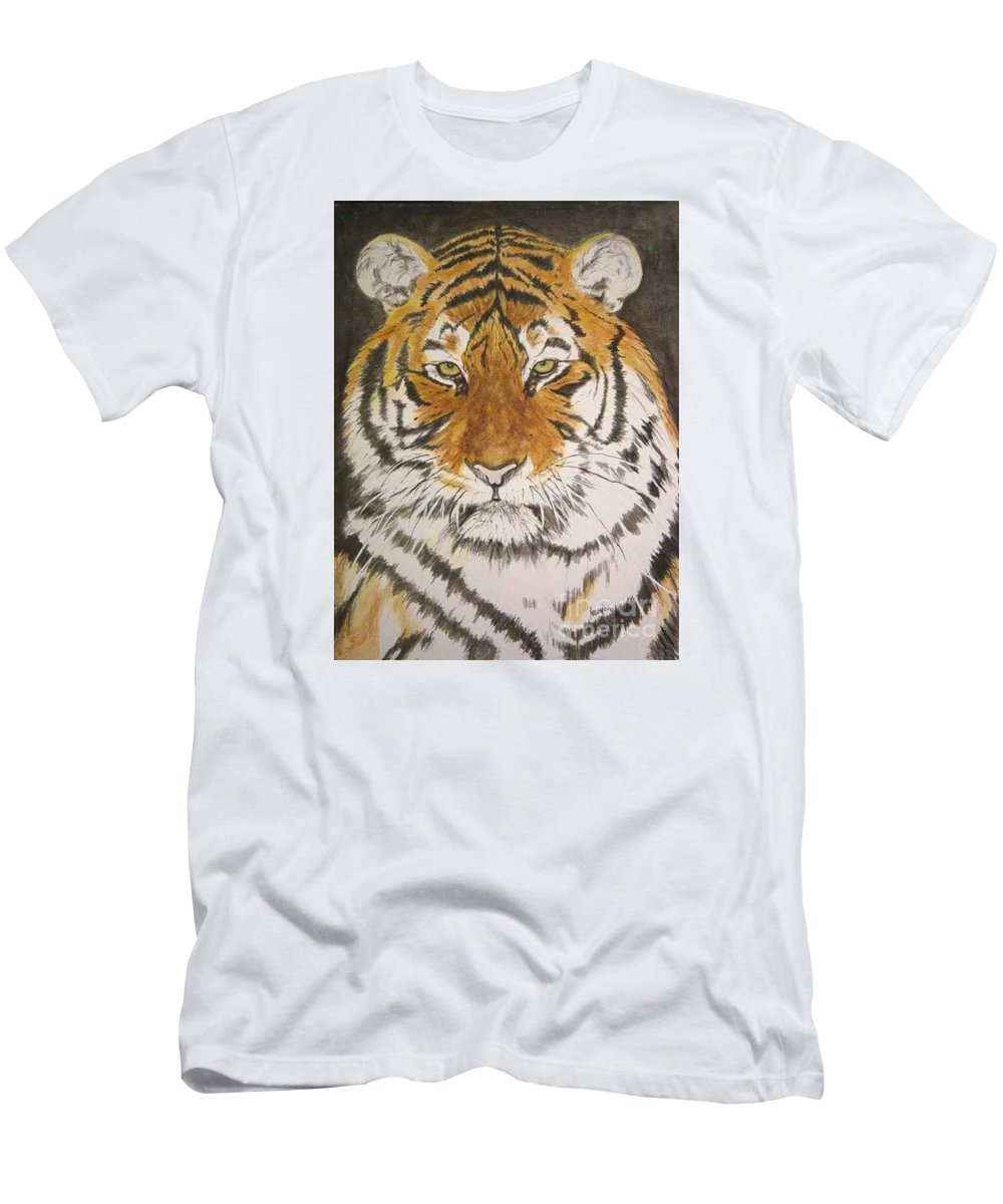 Siberian Tiger T-Shirt featuring the painting Siberian Tiger by Regan J Smith