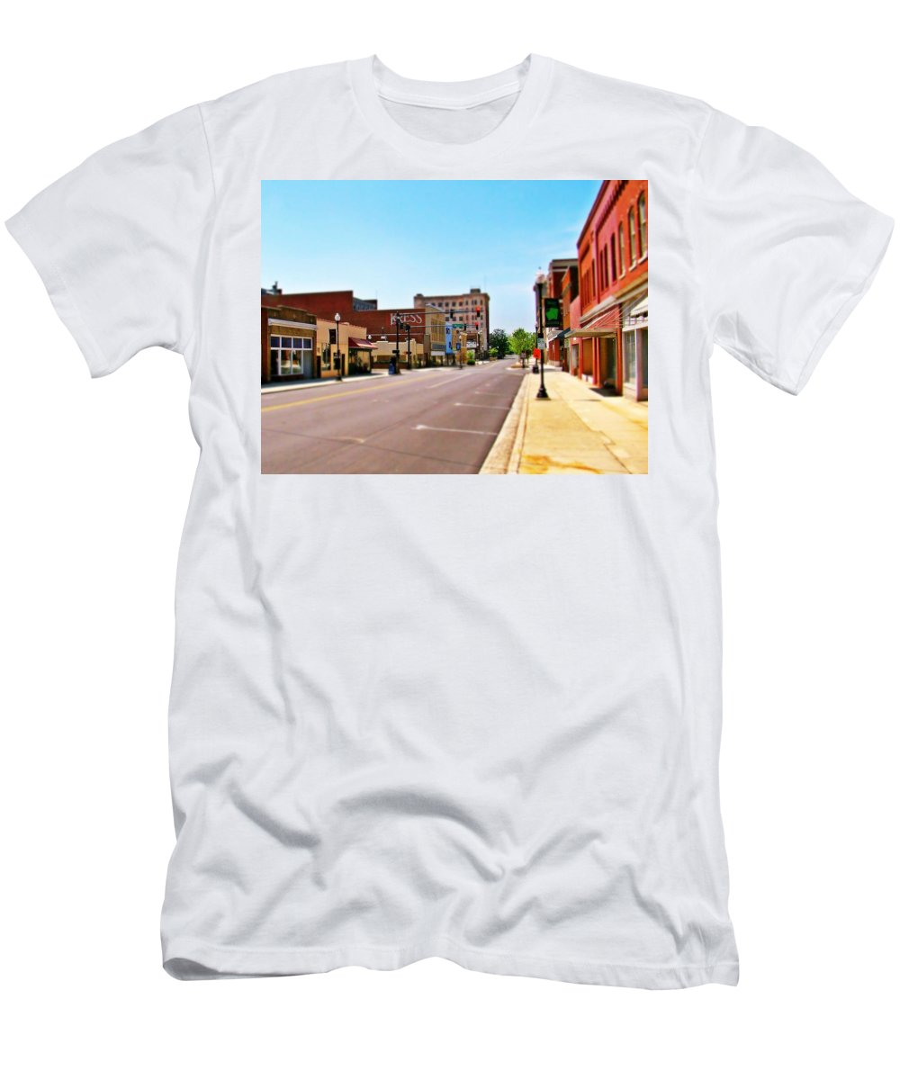 Fine Art Men's T-Shirt (Athletic Fit) featuring the photograph Small Town by Rodney Lee Williams