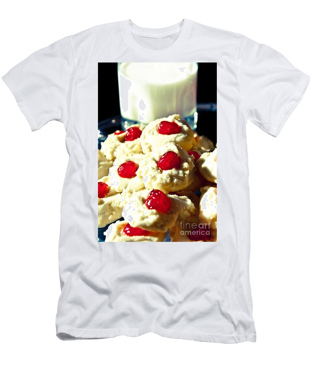 Cookies Men's T-Shirt (Athletic Fit) featuring the photograph Snack Time by Cheryl Baxter