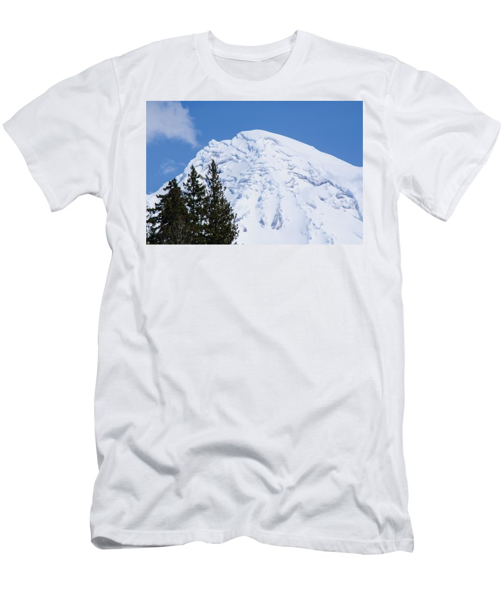 Snowcone Men's T-Shirt (Athletic Fit) featuring the photograph Snow Cone Mountain Top by Tikvah's Hope