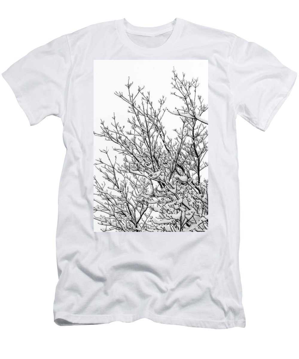 B&w Men's T-Shirt (Athletic Fit) featuring the photograph Snow Cover by Gaurav Singh
