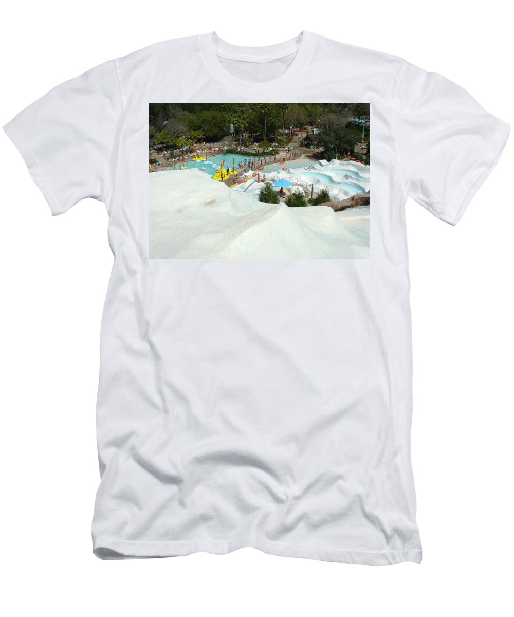 Disney World Men's T-Shirt (Athletic Fit) featuring the photograph Snow Time by David Nicholls