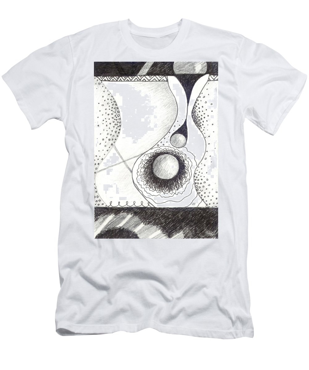 Abstract Men's T-Shirt (Athletic Fit) featuring the drawing Soft Landings 2 by Helena Tiainen