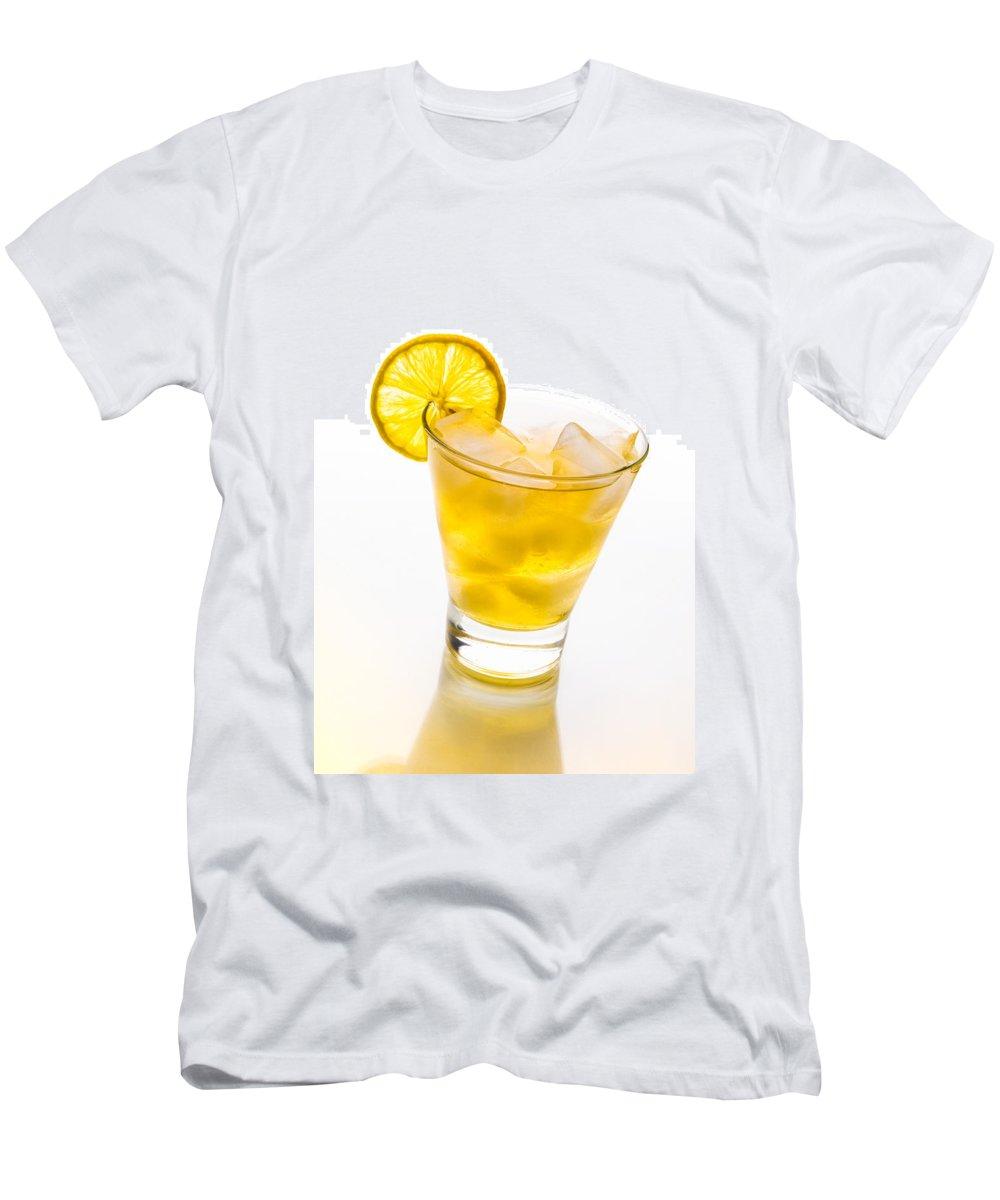 Frozen Men's T-Shirt (Athletic Fit) featuring the photograph Soft Lemon Cocktail by Alain De Maximy