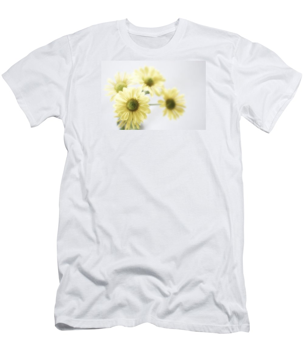 Yellow Poms Men's T-Shirt (Athletic Fit) featuring the photograph Soft Yellow Poms by Shelly Gunderson