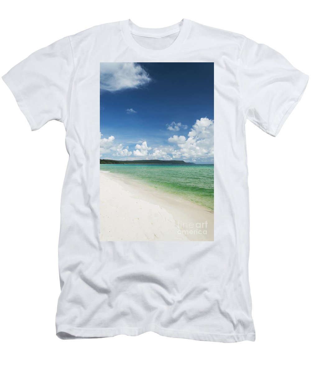 Asia Men's T-Shirt (Athletic Fit) featuring the photograph Sok San Area Of Long Beach In Koh Rong Island Cambodia by Jacek Malipan
