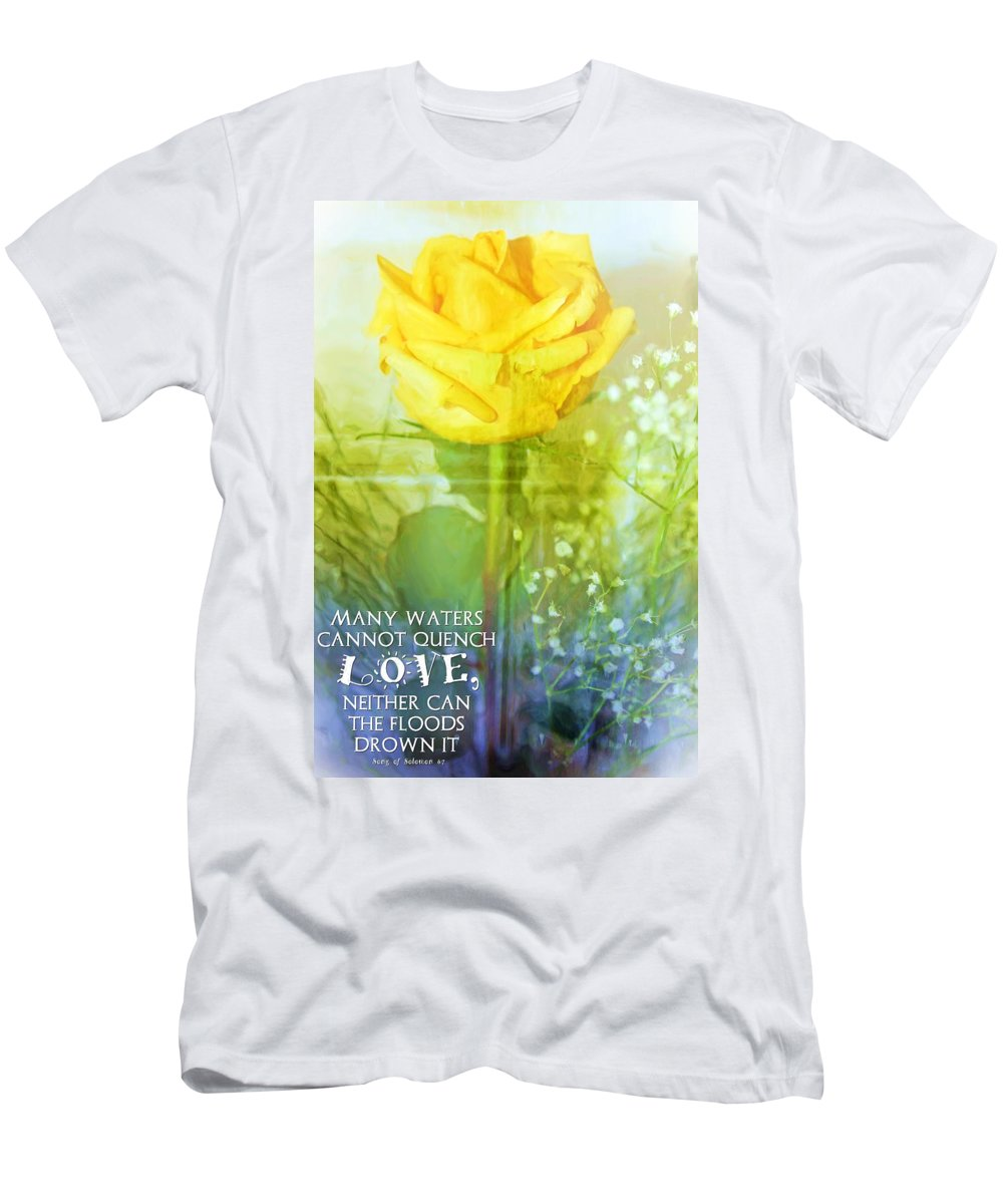 Jesus Men's T-Shirt (Athletic Fit) featuring the digital art Song Of Solomon 8 7 by Michelle Greene Wheeler