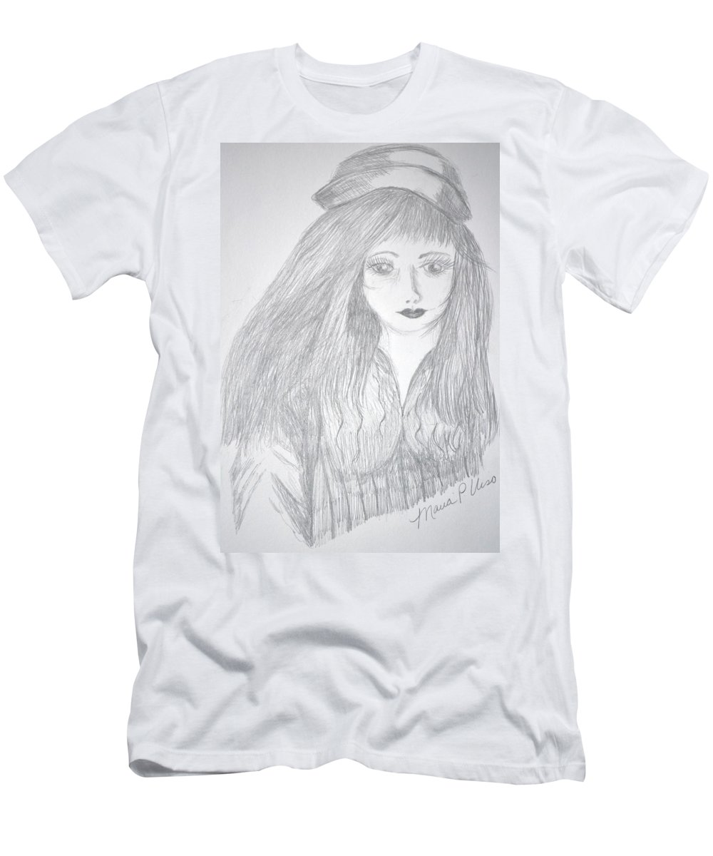 Soul Men's T-Shirt (Athletic Fit) featuring the drawing Soul Searching by Maria Urso