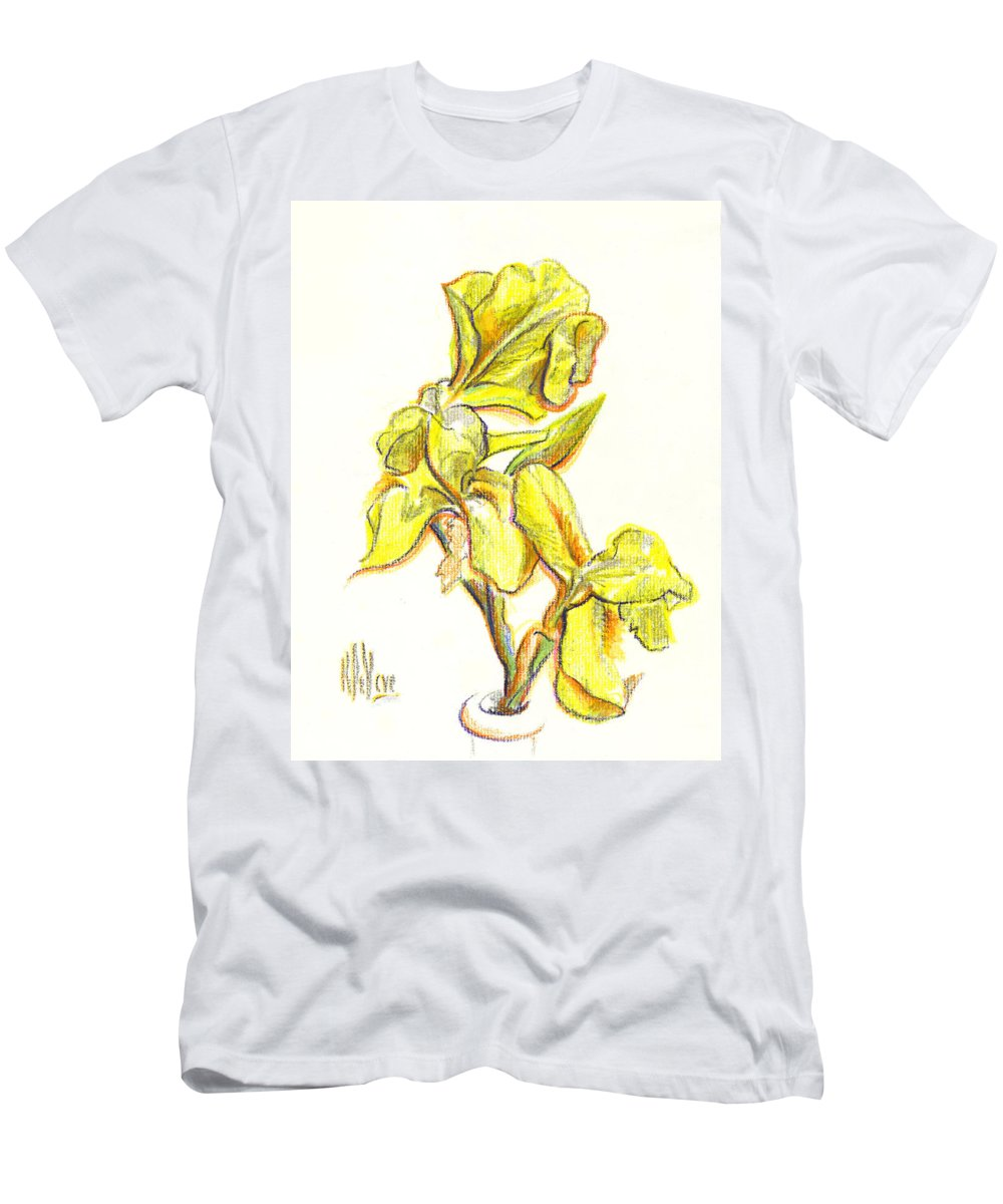 Spanish Irises Men's T-Shirt (Athletic Fit) featuring the painting Spanish Irises by Kip DeVore