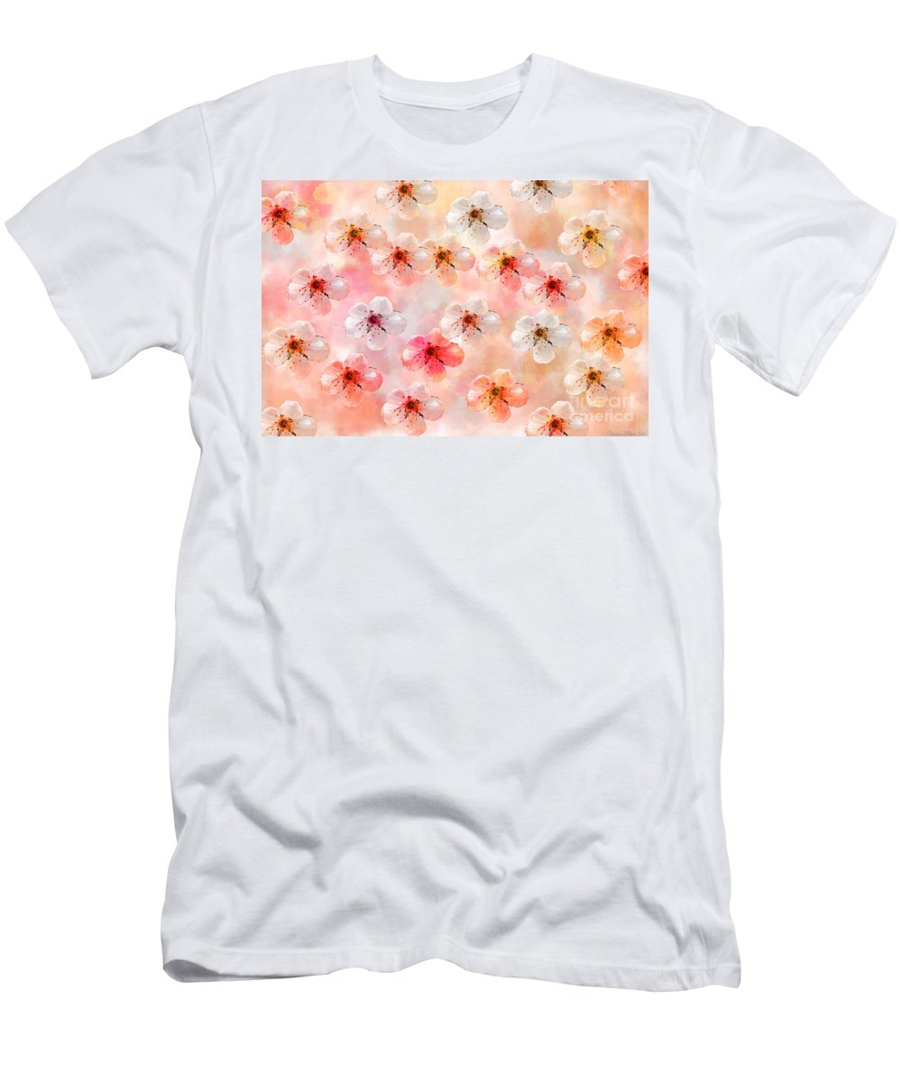 Abstract Men's T-Shirt (Athletic Fit) featuring the photograph Spring Flowers Abstract 5 by Debbie Portwood