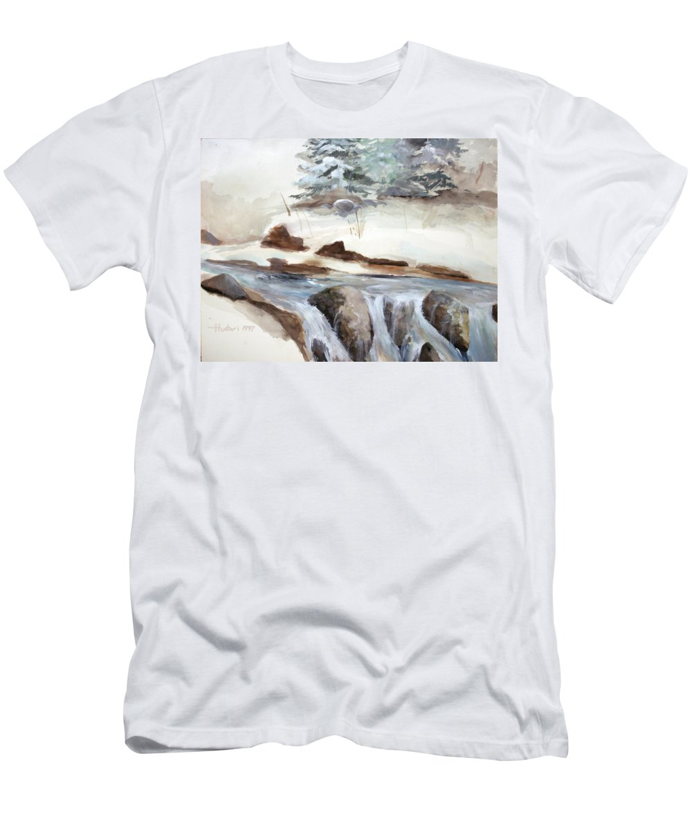 Rick Huotari Men's T-Shirt (Athletic Fit) featuring the painting Springtime by Rick Huotari