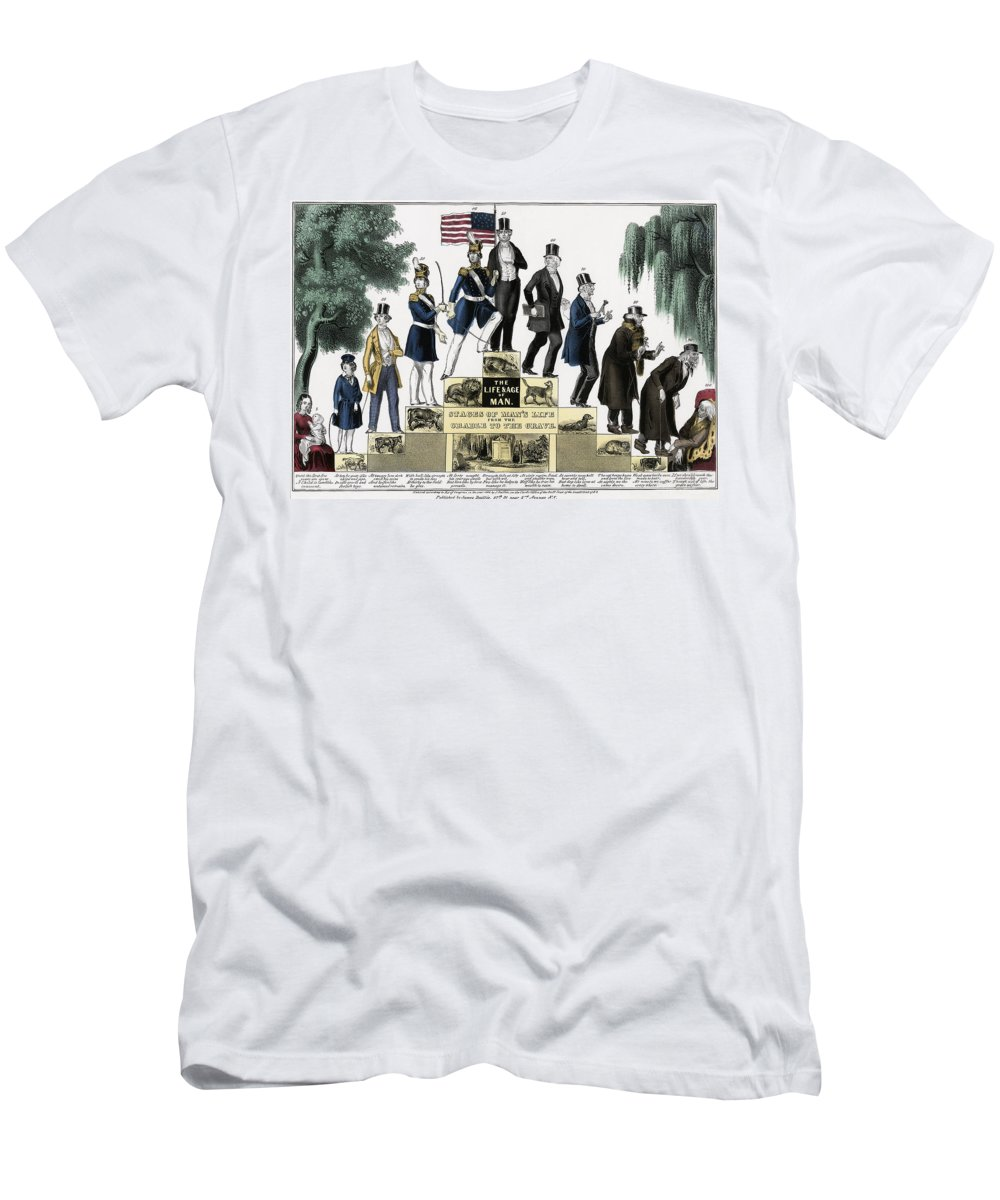 stages Of Life Men's T-Shirt (Athletic Fit) featuring the photograph Stages Of A Mans Life 1848 by Daniel Hagerman