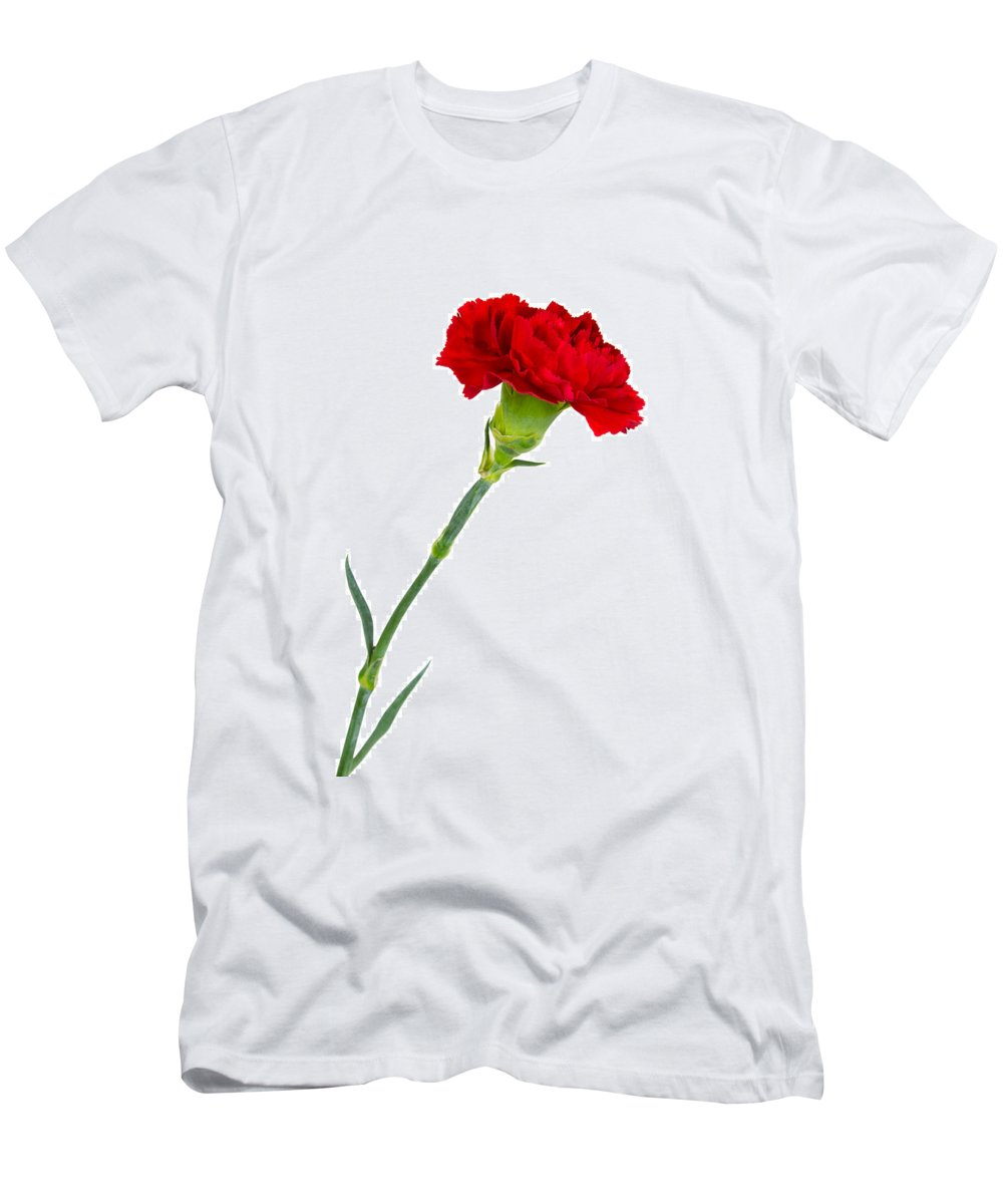 Bloom Men's T-Shirt (Athletic Fit) featuring the photograph Standing Carnation by David Head