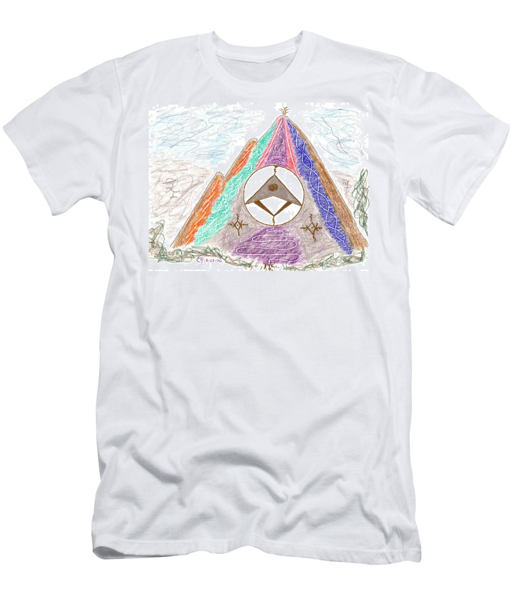 Visionary Men's T-Shirt (Athletic Fit) featuring the drawing Stargate by Mark David Gerson