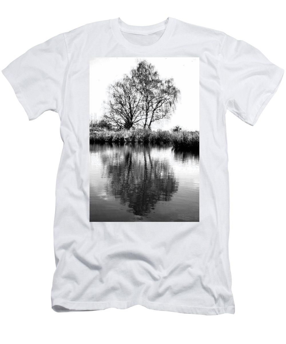 Tree Men's T-Shirt (Athletic Fit) featuring the photograph Stark Reflections by Tracey Beer