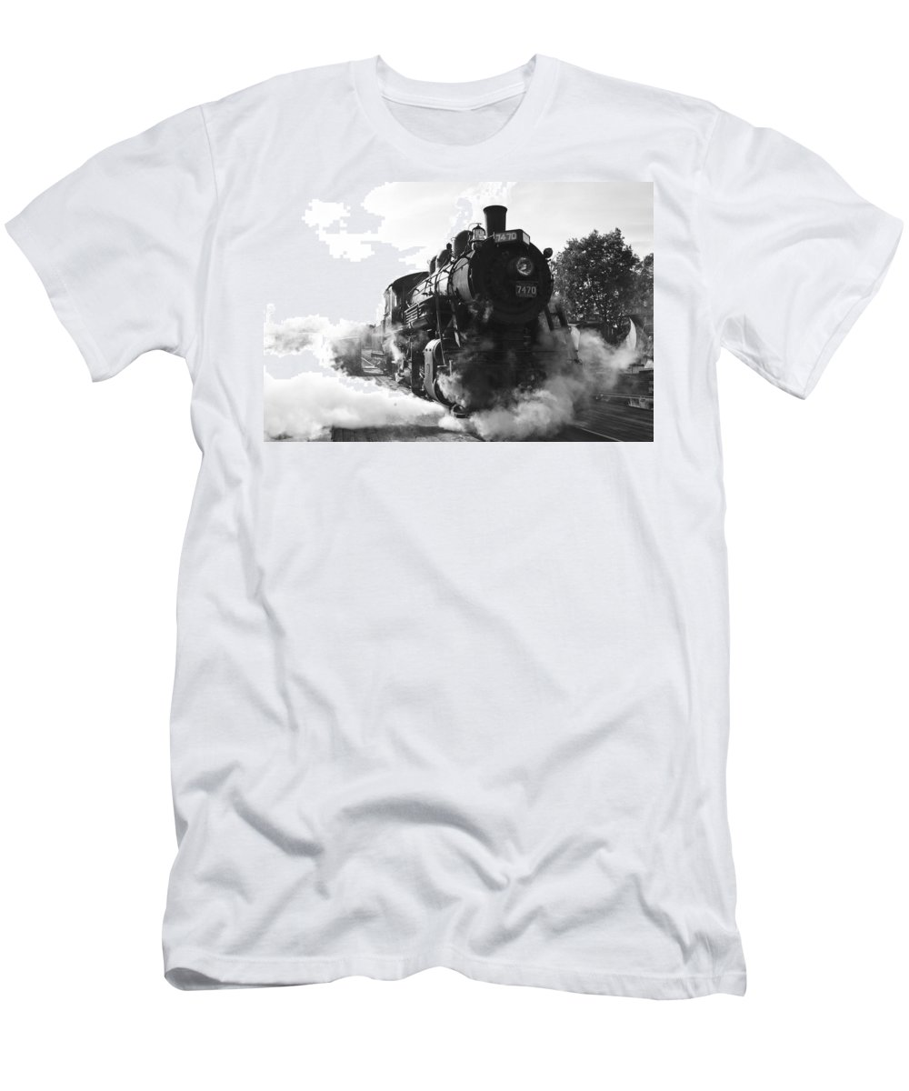 Train Photographs Photographs Men's T-Shirt (Athletic Fit) featuring the photograph Steam And Iron by John Clark
