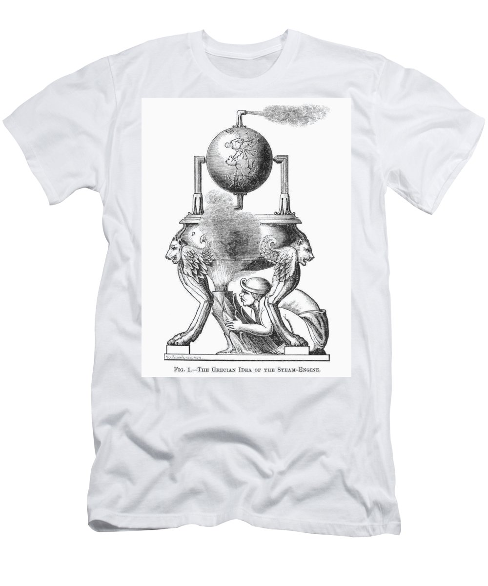 100 Men's T-Shirt (Athletic Fit) featuring the photograph Steam Engine, C100 A.d by Granger