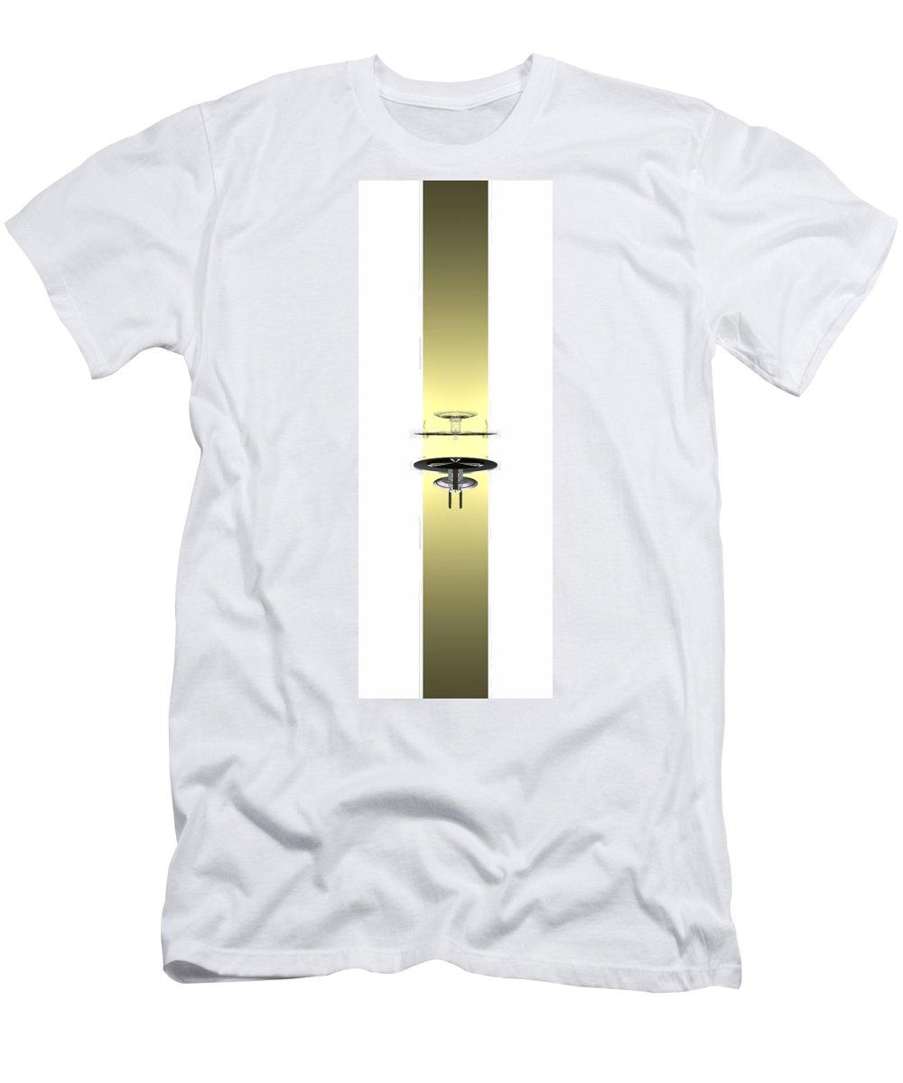 Abstract Digital Artwork Men's T-Shirt (Athletic Fit) featuring the digital art Sto I Stolica 3 by Nenad Paunovic