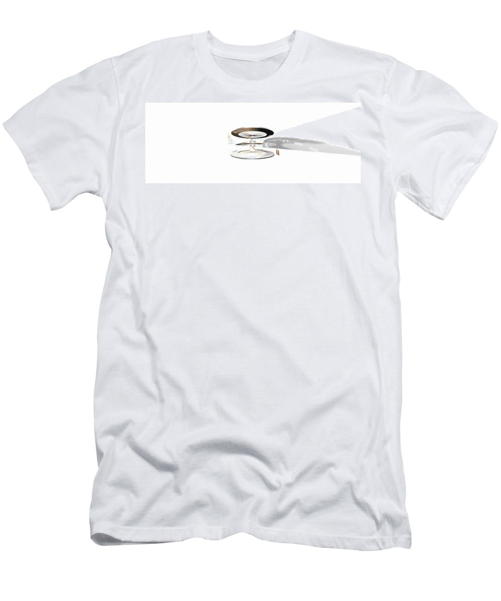 Abstract Digital Artwork Men's T-Shirt (Athletic Fit) featuring the digital art Sto I Stolica White by Nenad Paunovic