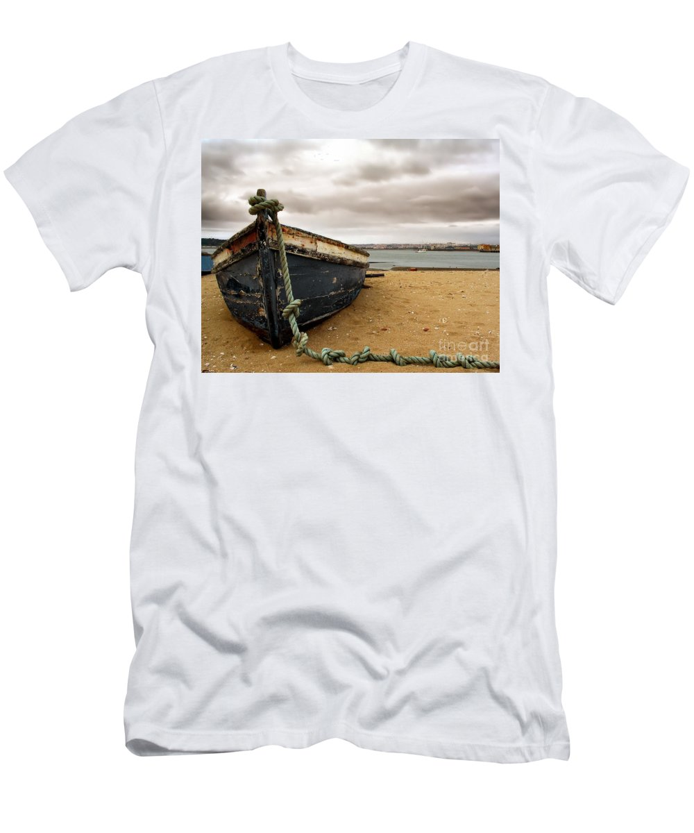 Boat Men's T-Shirt (Athletic Fit) featuring the photograph Storm Is Comming by Jose Elias - Sofia Pereira