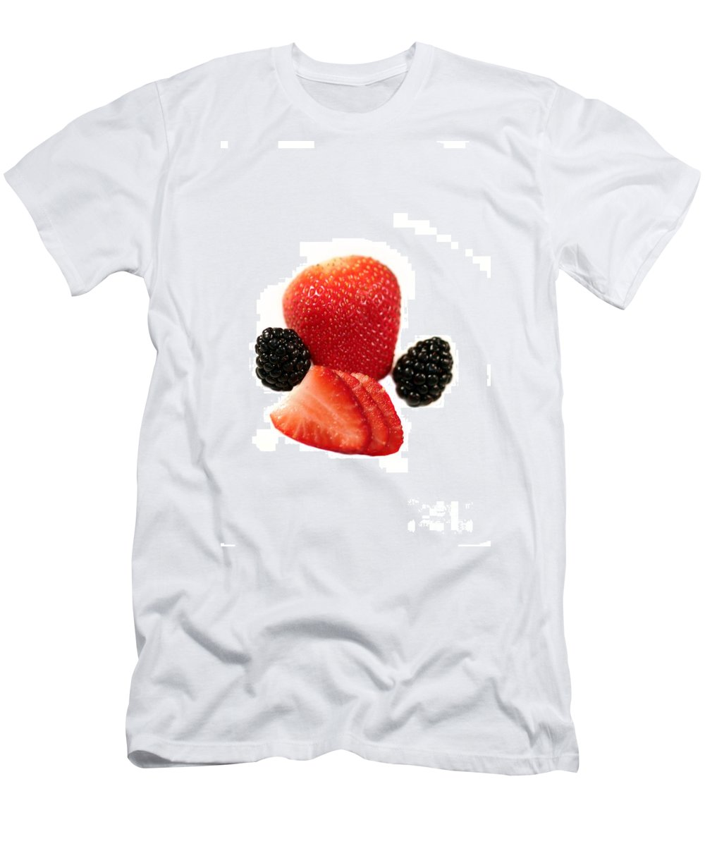 Fruit Men's T-Shirt (Athletic Fit) featuring the photograph Strawberry Blackberry by Henrik Lehnerer