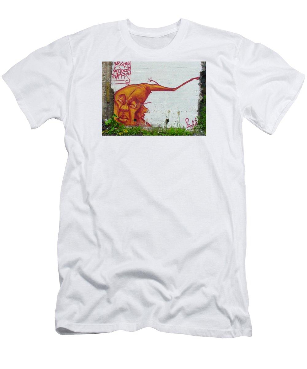 Street Art Men's T-Shirt (Athletic Fit) featuring the mixed media Street Art 4 by Art MacKay